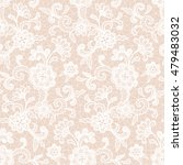 white lace design with floral... | Shutterstock .eps vector #479483032