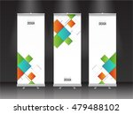 roll up banner stand design.... | Shutterstock .eps vector #479488102