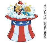 donald trump fighting against... | Shutterstock .eps vector #479497216