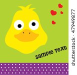 duck card with text 6 | Shutterstock .eps vector #47949877
