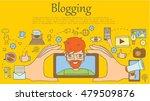concept blogging vector... | Shutterstock .eps vector #479509876