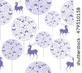 christmas seamless pattern with ... | Shutterstock .eps vector #479510158