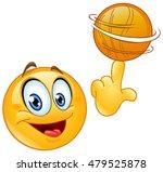 emoticon spinning a basketball...   Shutterstock .eps vector #479525878