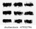 grunge banners. vector. | Shutterstock .eps vector #47952796
