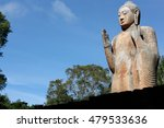 the maligawila buddha statue is ... | Shutterstock . vector #479533636
