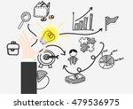 hand show bulb light idea ... | Shutterstock .eps vector #479536975