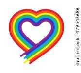 vector heart rainbow symbol in... | Shutterstock .eps vector #479546686