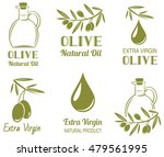 vector set of olive oil  labels | Shutterstock .eps vector #479561995