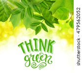 think green poster with hand... | Shutterstock . vector #479562052