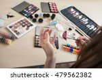 colorful cosmetics on stylist... | Shutterstock . vector #479562382