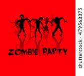 zombie party background | Shutterstock . vector #479563375