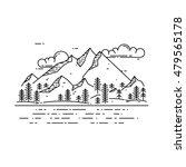 vector flat linear landscape.... | Shutterstock .eps vector #479565178