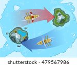 military sea map with sail... | Shutterstock .eps vector #479567986