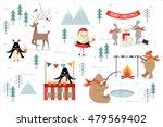 christmas scene vector... | Shutterstock .eps vector #479569402