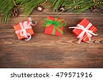 christmas gifts and decorations ... | Shutterstock . vector #479571916