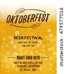 oktoberfest typographic poster... | Shutterstock .eps vector #479577016