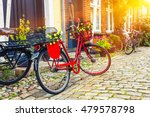 retro vintage red bicycle on... | Shutterstock . vector #479578798