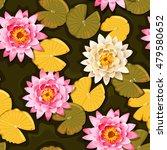 blooming lotus seamless | Shutterstock .eps vector #479580652