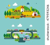 modern flat design conceptual... | Shutterstock .eps vector #479593246