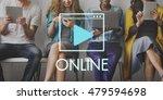 media audio player blog concept   Shutterstock . vector #479594698