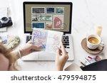 stamp post correspondence... | Shutterstock . vector #479594875