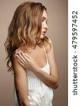 beautiful woman face. perfect... | Shutterstock . vector #479597452