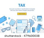 concept for tax calculation.... | Shutterstock .eps vector #479600038