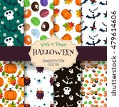 halloween seamless pattern set. ... | Shutterstock .eps vector #479614606