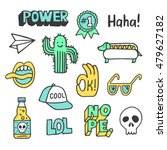 set of stickers  pins  patches... | Shutterstock .eps vector #479627182