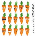 carrots set of funny smiles....   Shutterstock .eps vector #479633968
