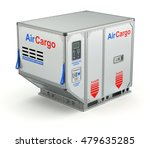 air cargo container with metal... | Shutterstock . vector #479635285