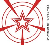 red star on a white background. | Shutterstock .eps vector #479637466