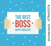 happy boss day card  paper in... | Shutterstock .eps vector #479643376