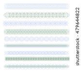 guilloche. edge  border  frame. ... | Shutterstock .eps vector #479644822