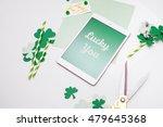 """lucky you"" message for saint... | Shutterstock . vector #479645368"