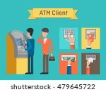atm or automated teller or cash ... | Shutterstock .eps vector #479645722