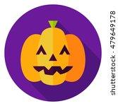 Jack O Lantern Pumpkin Circle...
