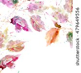 leaves background. autumn card. ... | Shutterstock . vector #479649556