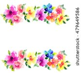 floral background. watercolor... | Shutterstock . vector #479649586