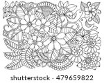 floral doodle pattern in black... | Shutterstock .eps vector #479659822