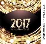 happy new year 2017 card  | Shutterstock .eps vector #479663116
