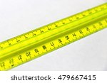 yellow plastic cleical ruler... | Shutterstock . vector #479667415