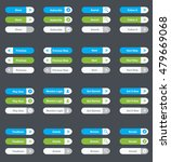 set of vector web interface... | Shutterstock .eps vector #479669068
