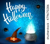 halloween greeting card with... | Shutterstock .eps vector #479670286