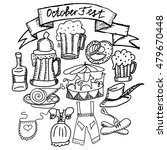 oktoberfest themed vector set.  ... | Shutterstock .eps vector #479670448