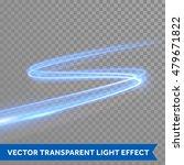 vector blue light trace effect. ... | Shutterstock .eps vector #479671822