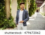 cheerful smiling young male... | Shutterstock . vector #479672062