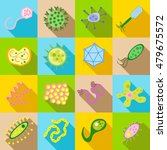 germ and pathogen icons set in... | Shutterstock . vector #479675572