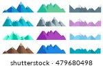 cartoon hills and mountains set ...   Shutterstock .eps vector #479680498