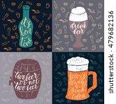 set of 4 hand lettering phrases ...   Shutterstock .eps vector #479682136